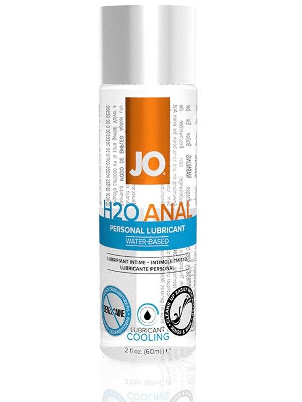Охлаждающий анальный лубрикант JO H2O Cool - 60 мл
