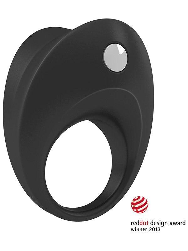 Эрекционное кольцо Ovo  B10 с вибрацией – черный