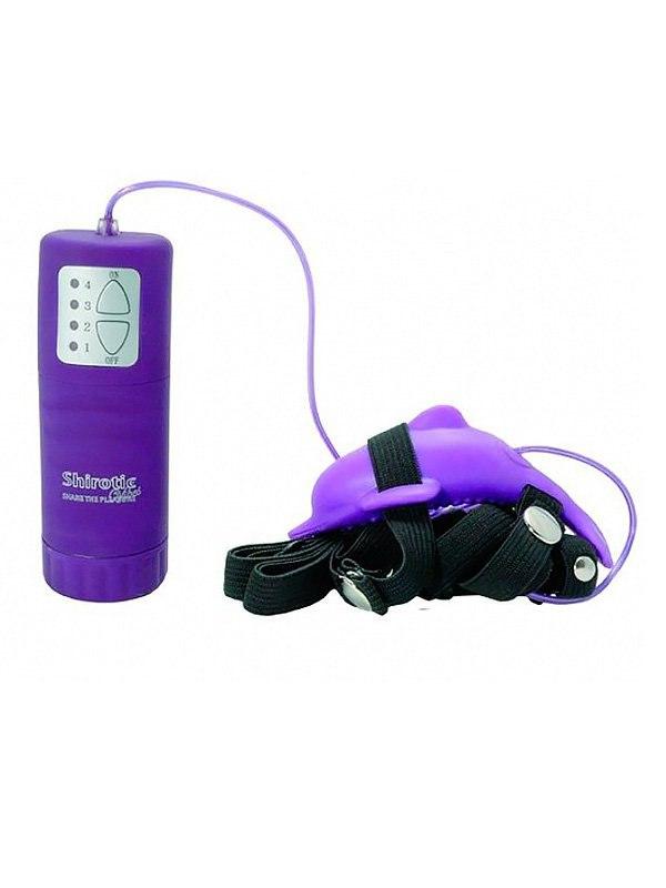 Вибростимулятор клитора Pure Vibes Dolphin в форме дельфинчика  фиолетовый