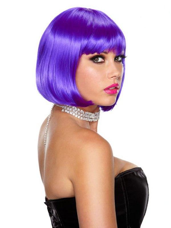 Фиолетовый парик-каре Playfully Purple