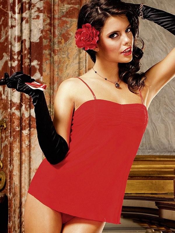Комплект бэбидолл Spanish Dreams  красный (Baci Lingerie, США)