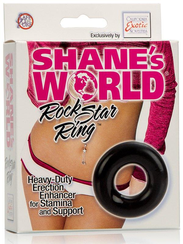 Эрекционное кольцо Shane's World Rock Star Ring – черный
