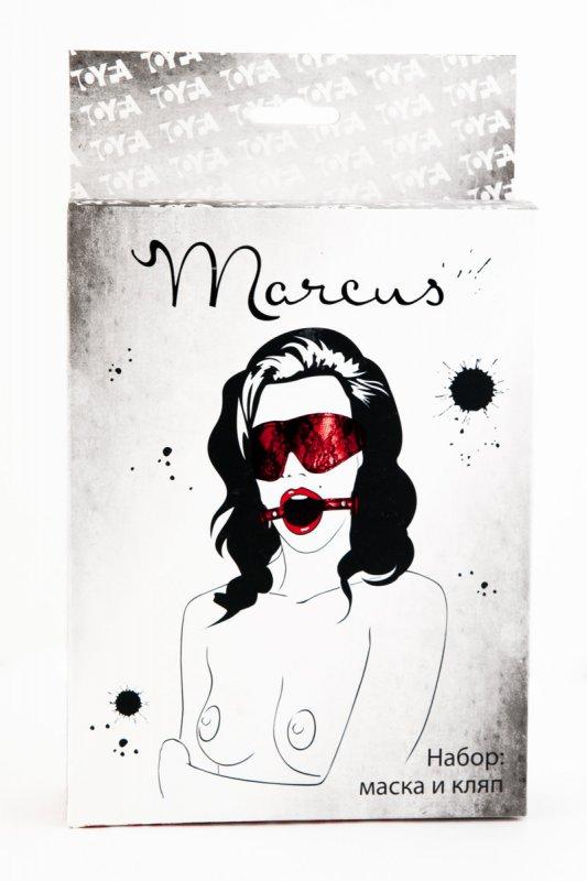 Кружевной набор маска и кляп TOYFA Marcus – красный
