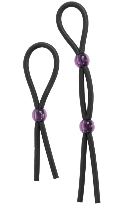 Набор из двух лассо Cock Ties - Black