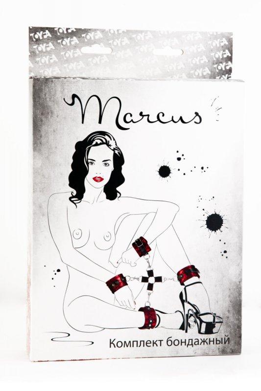Кружевной бондажный комплект TOYFA Marcus – красный