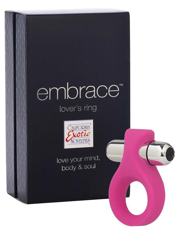 Вибро-кольцо Embrace Lovers Ring  розовое
