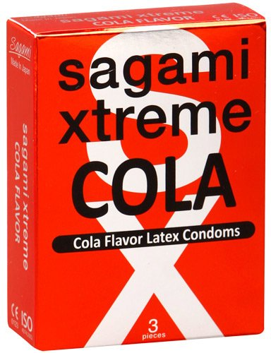 Презервативы Sagami Xtreme СOLA с ароматом колы -3 шт.
