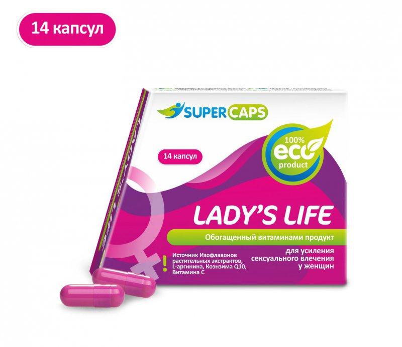 Средство возбуждающее для женщин Lady's Life - 14 капсул
