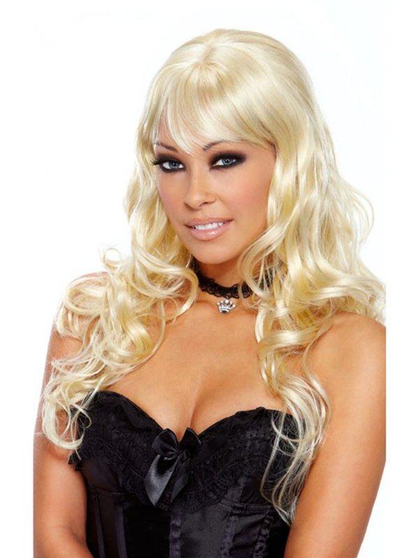 Кудрявый парик блондинки с длинными волосами Luscious Blonde