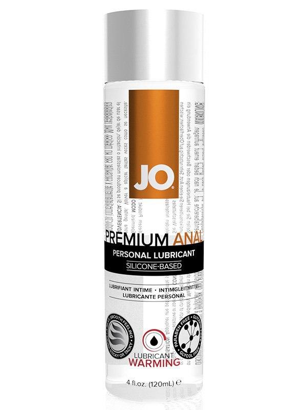 Согревающий анальный лубрикант на силиконовой основе JO Premium Warming - 120 мл