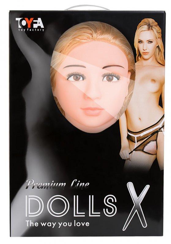Реалистичная надувная секс-кукла TOYFA Dolls-X Arianna с вибрацией - телесный
