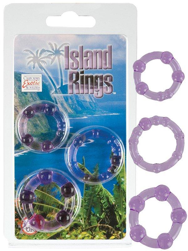 Комплект из 3-х эрекционных колец Island Rings – фиолетовый