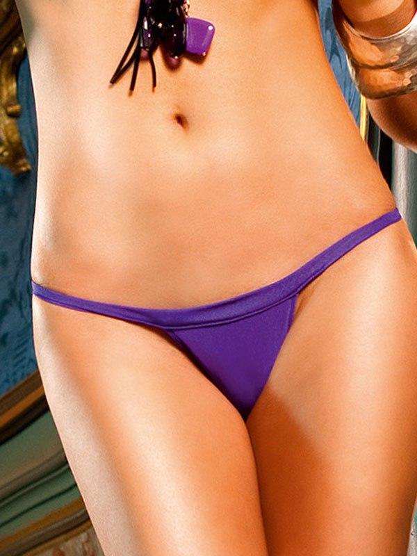 V-образные стринги фиолетового цвета NeonBarock