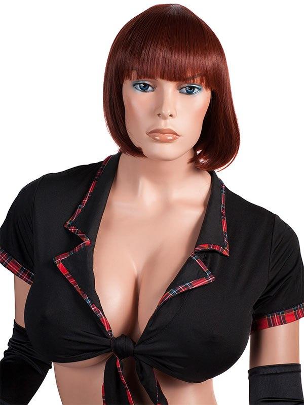 Парик с короткими волосами «Каре», рыжий
