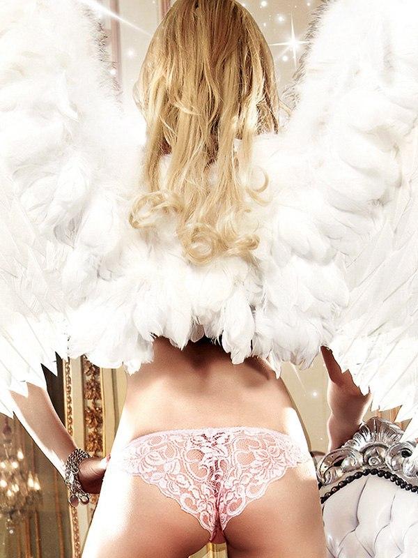 Трусики Back In Heaven с кружевным узором сзади – розовые, S/M цены онлайн