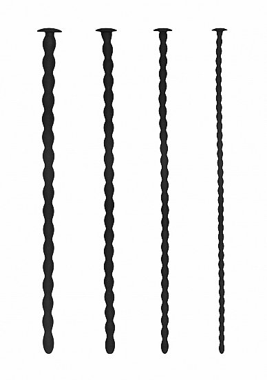 Набор из четырех стимуляторов уретры (струн) Silicone Spiral Screw Plug Set - Advanced