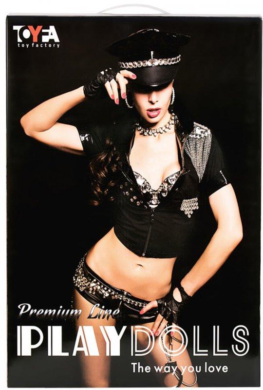 Реалистичная надувная секс-кукла TOYFA Dolls-X Cop Samantha с костюмом полицейской и вибрацией - телесный