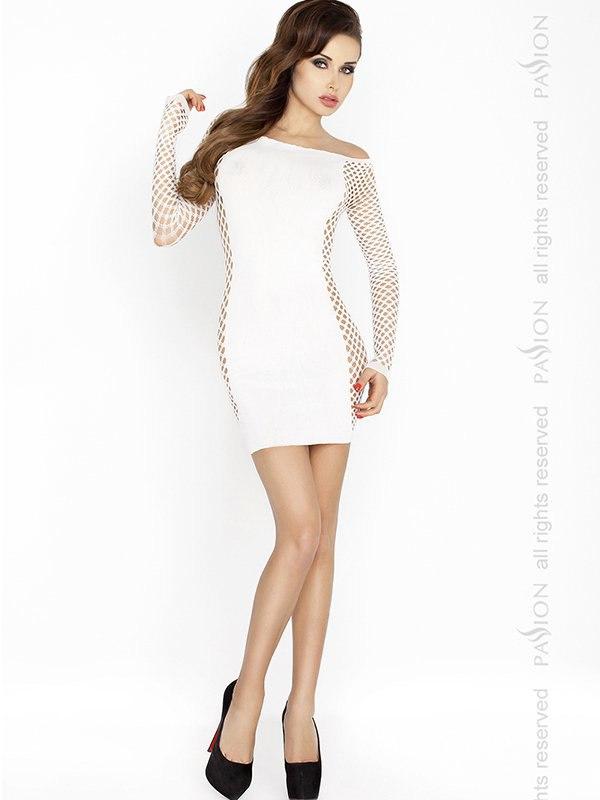 Платье с длинными рукавами Кокетка (Passion) – белый