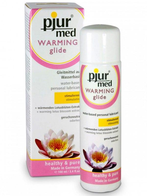Стимулирующий любрикант Pjur® med Warming glide - 100 мл от Он и Она