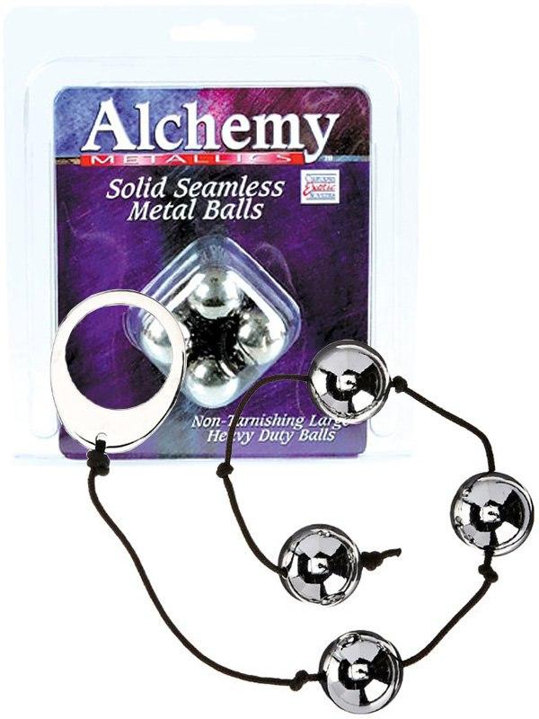 Анальные шарики Alchemy Metallics металлические  серебристые