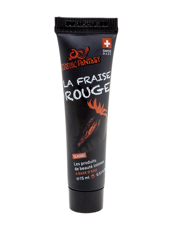Лубрикант на водной основе с клубничным ароматом и вкусом La Fraise Rouge – 15 мл