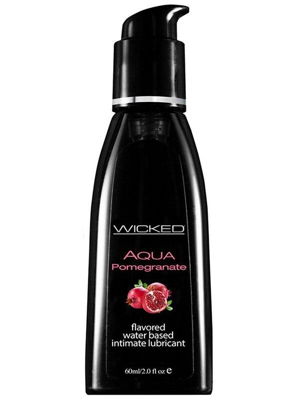 Лубрикант Wicked Aqua Pomegranate со вкусом граната – 60 мл