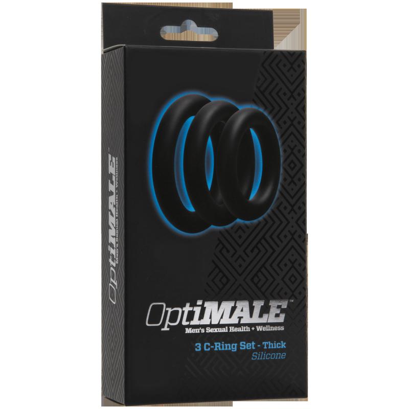 ����� ������� ����������� ����� OPTIMALE 3 C-Ring Set Thick � ������ (Doc Johnson, ���)