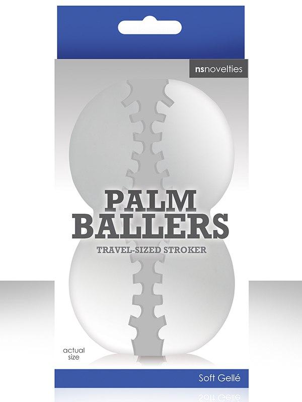 Мастурбатор Palm Ballers – прозрачный