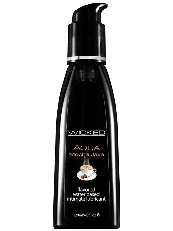 Лубрикант Wicked Aqua Mocha Java со вкусом кофе мокка – 120 мл
