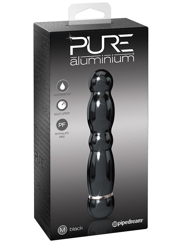 Вибромассажер Pure Aluminium Medium Black – черный