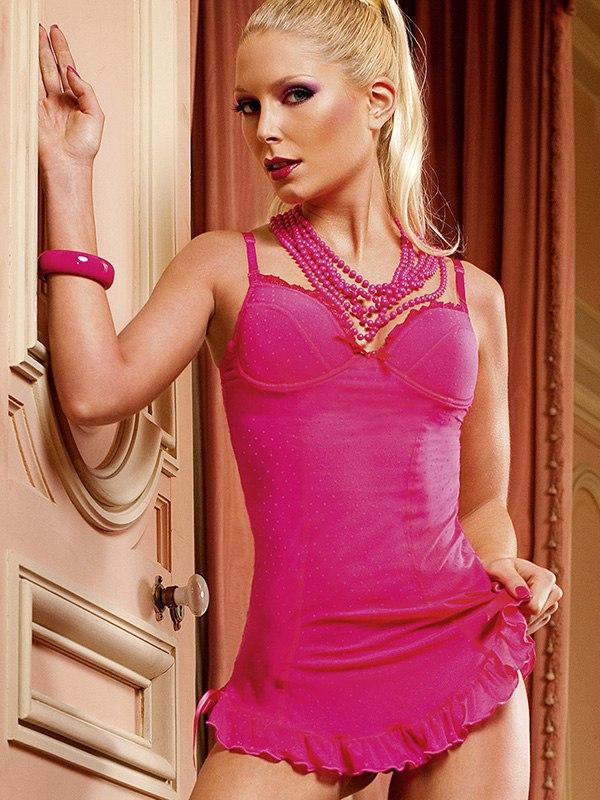 Платье-рубашка в мелкую сетку Lets Play  розовое