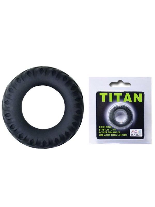Эрекционное кольцо Titan имитация автомобильной шины – черный