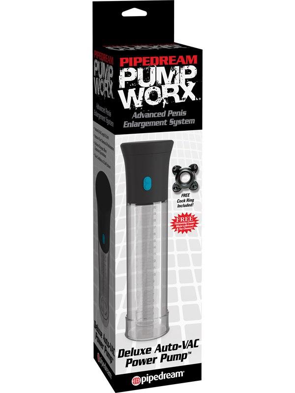 Pipedream Автоматическая вакуумная помпа Deluxe Auto-Vac Pump - прозрачная
