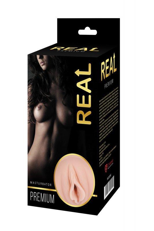 Реалистичный односторонний мастурбатор Real Women Dual Layer с двойной структурой 15,5 см.