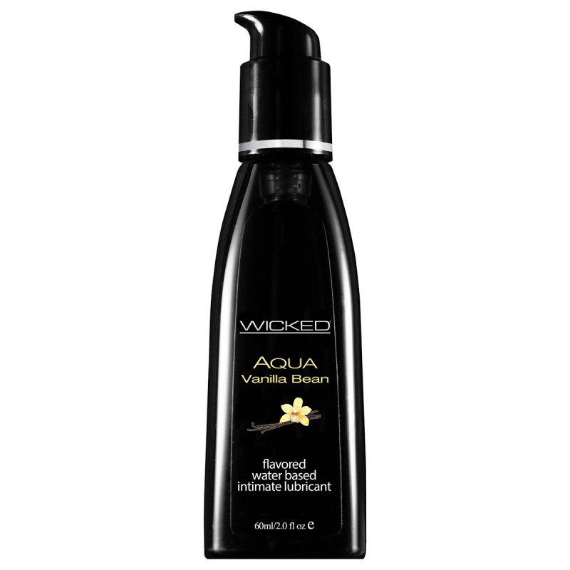 Съедобный лубрикант со вкусом ванили Wicked Aqua Vanilla Beanl - 60 мл