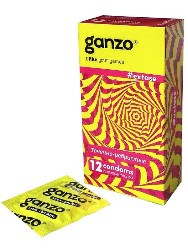 Презервативы Ganzo Extase анатомические – 12 шт