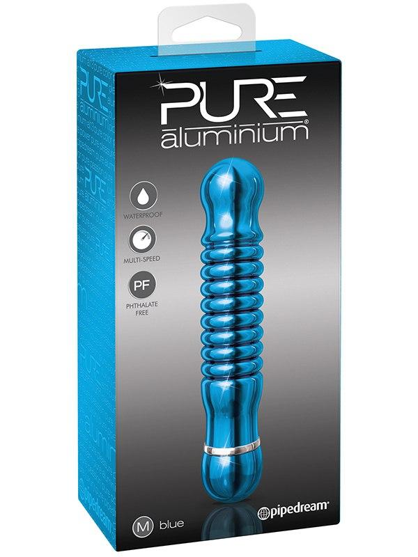 Вибромассажер Pure Aluminium Medium Blue – синий