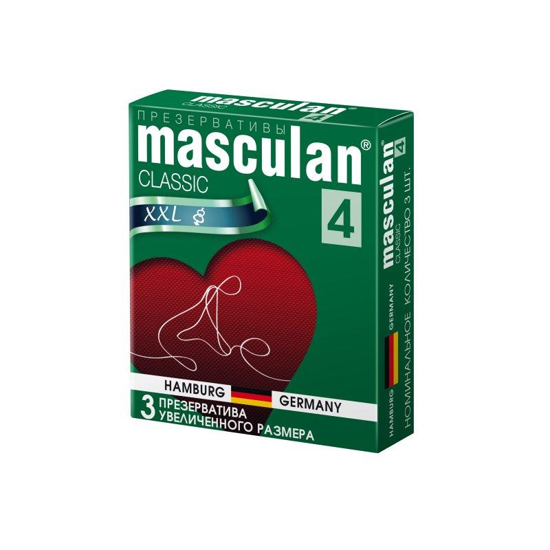 Презервативы Masculan 4 Classic Увеличенного размера 3 шт