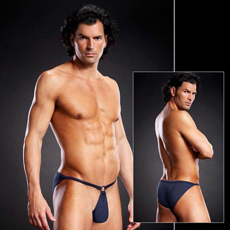 Сексуальные мужские Pouch-бикини BlueLine синие – L/XL