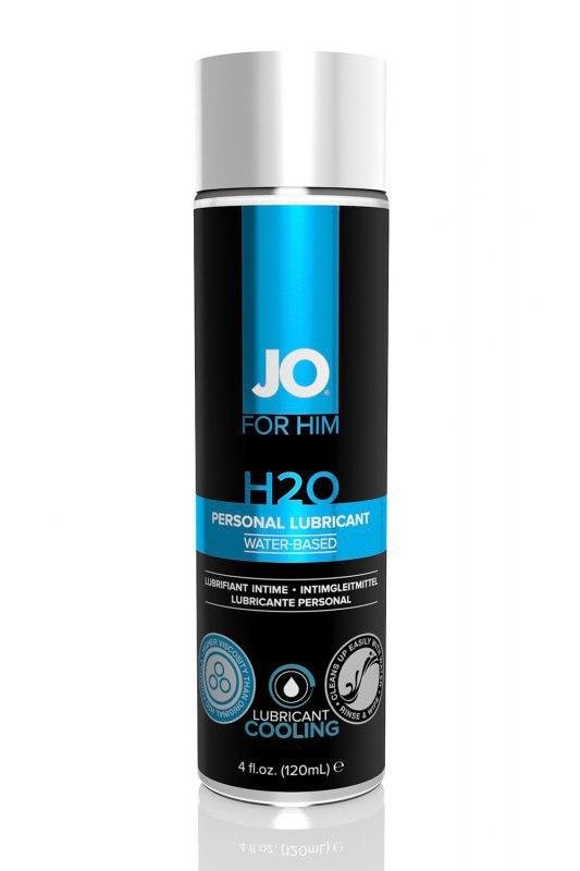 Мужской лубрикант на водной основе JO for Men H2О охлаждающий  120 мл