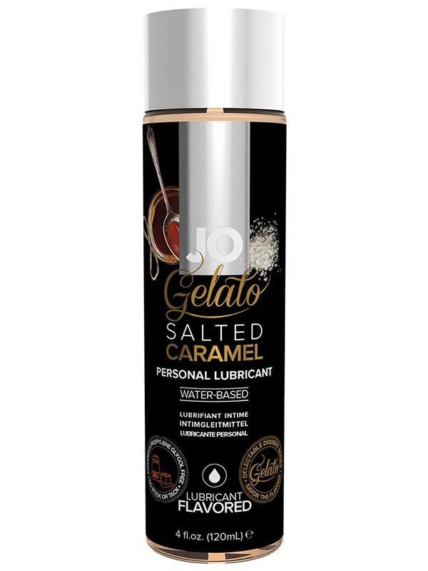 Лубрикант на водной основе с ароматом соленой карамели JO Gelato Salted Caramel – 120 мл