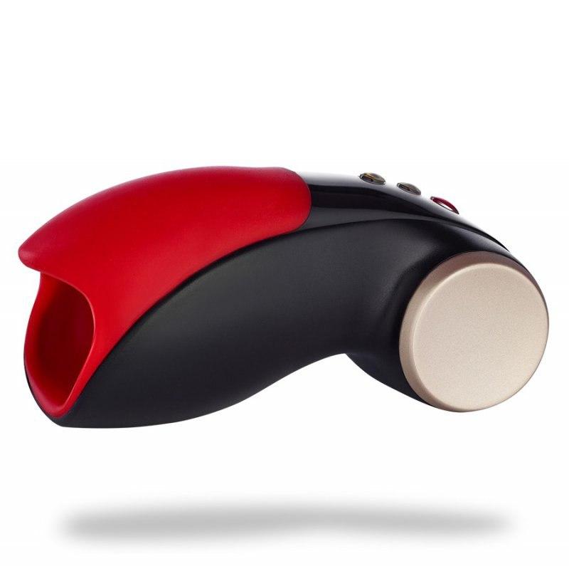 Автоматический универсальный мастурбатор Cobra libre II - черный, красный