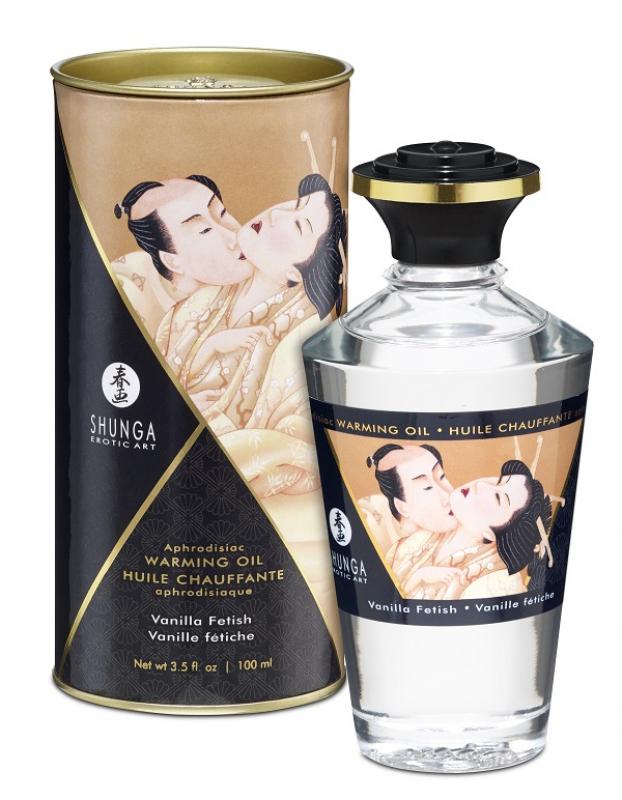 Съедобное разогревающее массажное масло Shunga Afrodisiac «Ванильный фетиш» - 100 мл