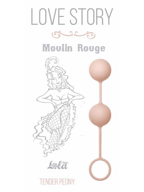 Вагинальные шарики Moulin Rouge со смещенным центром тяжести – розовый