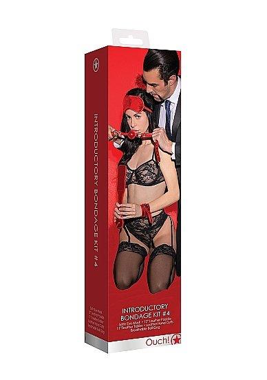 Шлепалка в наборе с веревкой для связывания, стэком-пуховкой, кляпом, маской на глаза, наручниками и