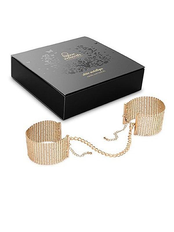 Наручники из металлической сетки Metallic Mesh Handcuffs – золотистый