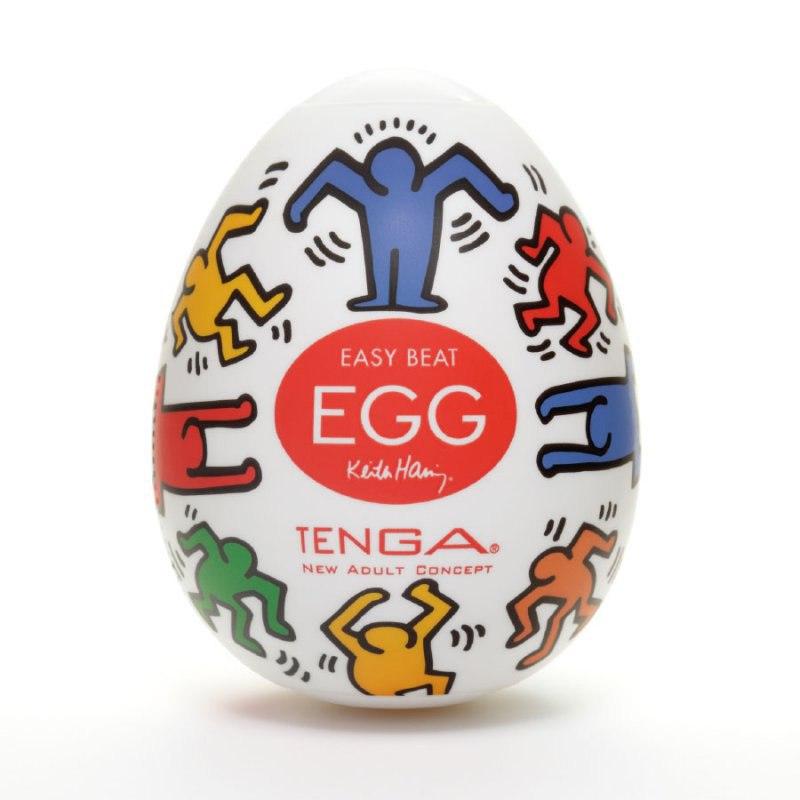 Мастурбатор яйцо Tenga&Keith Haring Egg Dance - прозрачный