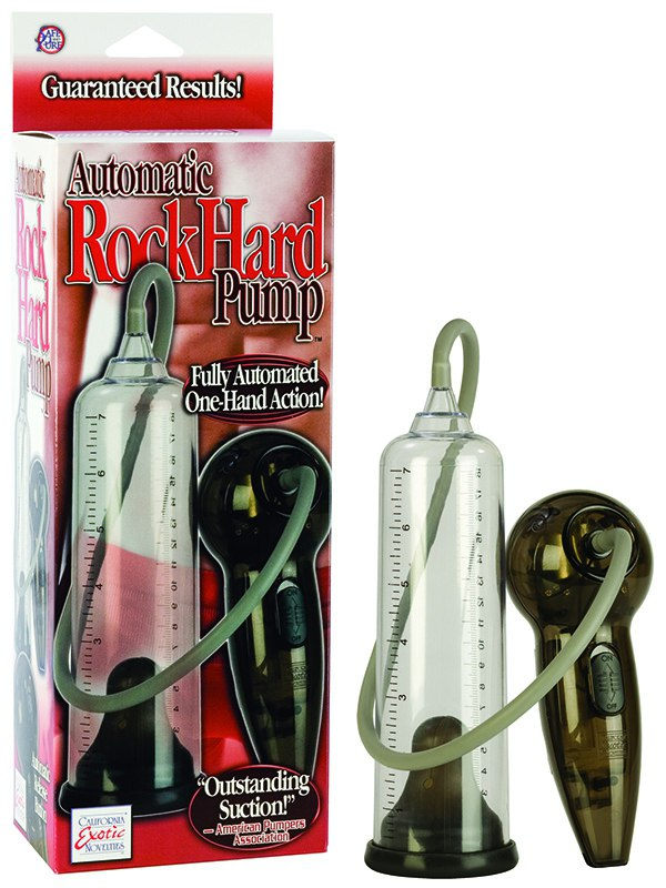 Автоматическая мужская помпа Automatic Rock Hard Pump – прозрачная