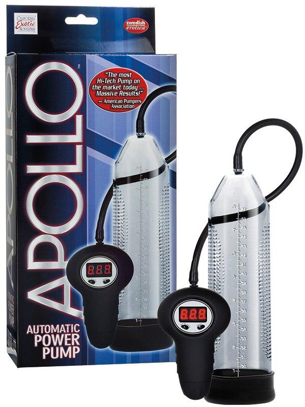 Автоматическая мужская помпа Apollo Automatic Power Pump – серая