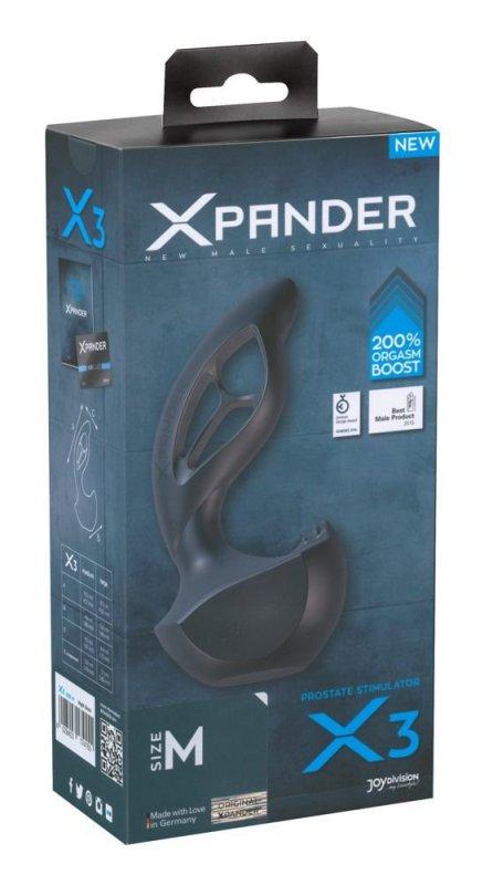 Стимулятор простаты Xpander X3 размер M - черный